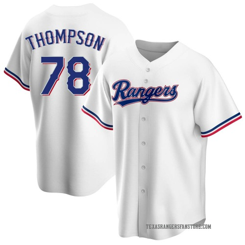 Bubba Thompson Texas Rangers Youth Replica Home Jersey - White