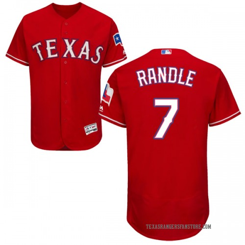 Lenny Randle Texas Rangers Men's Authentic Majestic Flex Base Alternate Collection Jersey - Red