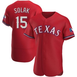 Nick Solak Texas Rangers Men's Authentic Alternate Jersey - Red