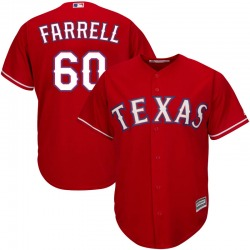 Luke Farrell Texas Rangers Youth Replica Majestic Cool Base Alternate Jersey - Red
