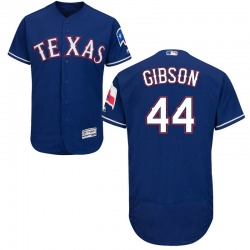 Kyle Gibson Texas Rangers Men's Authentic Majestic Flex Base Alternate Collection Jersey - Royal