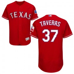 Leody Taveras Texas Rangers Men's Authentic Majestic Flex Base Alternate Collection Jersey - Red