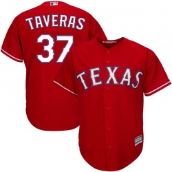Leody Taveras Texas Rangers Men's Replica Majestic Cool Base Alternate Jersey - Red